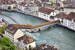 Alfalfa panorámica, Suiza Imagen de archivo