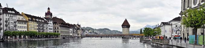 Alfalfa panorámica, Suiza Fotos de archivo libres de regalías