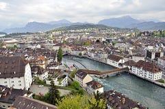 Alfalfa panorámica, Suiza Imágenes de archivo libres de regalías