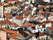 alfama里斯本屋顶 免版税库存图片