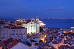 alfama里斯本葡萄牙 库存照片