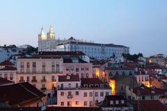 Alfama - ältester Bezirk von Lissabon Lizenzfreies Stockbild