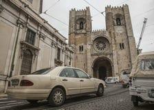 Alfama, Лиссабон, Португалия Стоковые Фотографии RF
