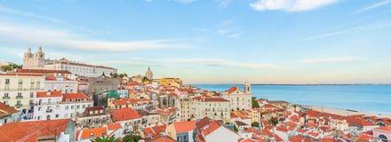 Alfama am Abend, Lissabon, Portugal Lizenzfreie Stockbilder