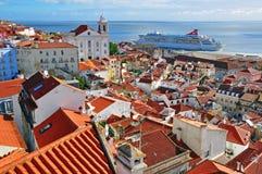 Alfama, alte Stadt von Lissabon Lizenzfreie Stockfotografie