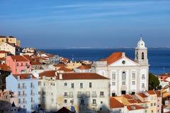 Alfama-Bezirk in Lissabon Lizenzfreie Stockfotografie