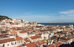 Alfama-Bezirk von Lissabon Portugal Stockbild