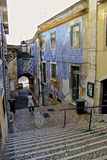 Alfama - der älteste Bezirk von Lissabon Lizenzfreies Stockbild