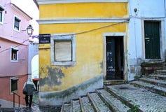 Alfama - det äldsta området av Lissabon Royaltyfri Bild
