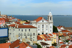 Alfama district at the east of Lisbon, Portugal Royalty Free Stock Photo