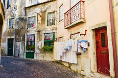 Alfama district, Lisbon Portugal. Stock Images