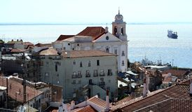 Alfama district in Lisbon Royalty Free Stock Image