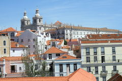 Alfama district in Lisbon Royalty Free Stock Images
