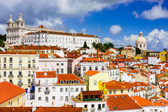 Alfama District of Lisbon Royalty Free Stock Photo