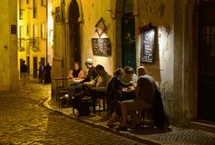 Alfama District Lisbon portugal. The Alfama district of Portugal is famous for its restaurants and in particular its traditional folk songs of Fado. Alfama is Royalty Free Stock Photography