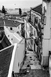 Alfama district of lisbon in portugal. Skyline of alfama district in lisbon Royalty Free Stock Photography