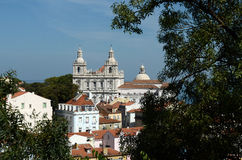 The Alfama District of Lisbon Royalty Free Stock Photography