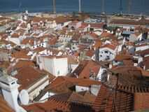 alfama-district-red-roofs Royalty Free Stock Photo