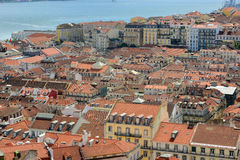 Alfama District and Tejo River, Lisbon Royalty Free Stock Photo