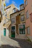 Alfama - il più vecchio distretto di Lisbona Fotografie Stock Libere da Diritti