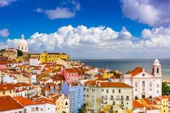 Alfama Lisbon Cityscape royalty free stock photos