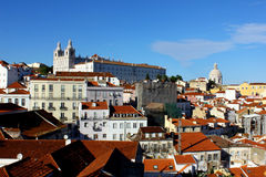 Alfama Lisbon, Portugal Arkivfoto