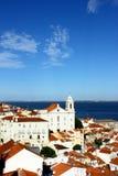 Alfama Lisbon, Portugal Fotografering för Bildbyråer