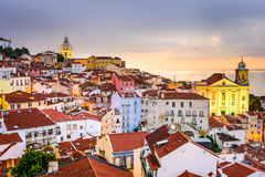 Alfama, Lisbon, Portugal Cityscape Stock Images