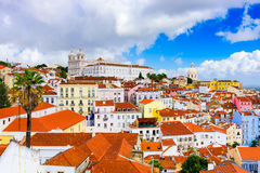 Alfama in Lisbon Royalty Free Stock Photos