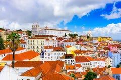 Alfama in Lisbon Royalty Free Stock Photos