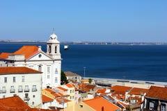 Alfama, Lisbona, Portogallo Fotografie Stock Libere da Diritti