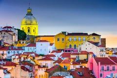 Alfama Lissabon royalty-vrije stock afbeelding