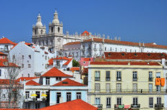 Alfama, medieval Lisbon district Royalty Free Stock Photos