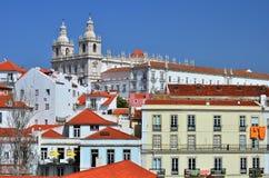 Alfama, medieval Lisbon district royalty free stock photos