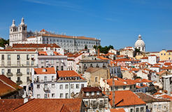 Alfama, old part of Lisbon Royalty Free Stock Photography