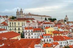 Alfama område, Lissabon, Portugal royaltyfria bilder