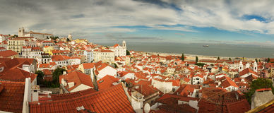 Alfama overview, Lisbon Royalty Free Stock Photography