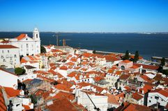 Alfama quarter Lisbon Stock Photo