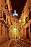 Alfama quarter at night in Lisbon, Stock Photos
