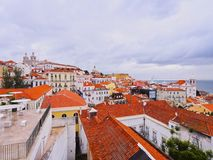 Alfama Skyline in Lisbon Stock Photography