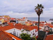 Alfama Skyline in Lisbon Stock Photo