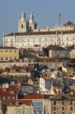 Alfama from Tagus River Royalty Free Stock Photo