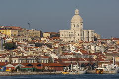 Alfama from Tagus River Royalty Free Stock Photos