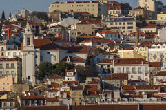 Alfama from Tagus River Stock Photo