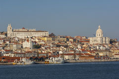 Alfama from Tagus River Stock Photos