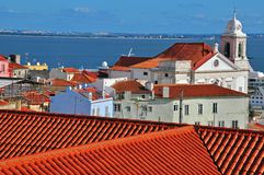 Alfama top view Royalty Free Stock Photos