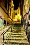 Alfama-Treppe lizenzfreies stockbild