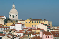 Alfama urban district of Lisbon Stock Photos