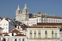 Alfama urban district panorama of Lisbon. Royalty Free Stock Photography