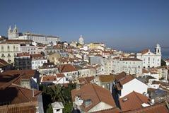 Alfama Urban District Panorama Of Lisbon. Stock Photography